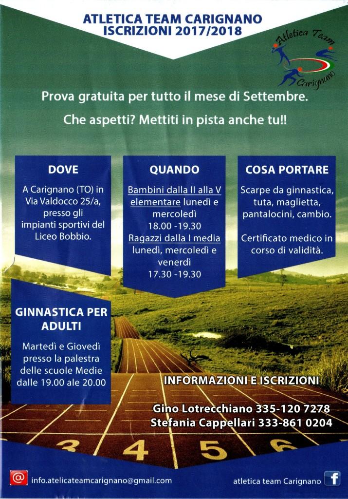Fronte Volantino 2017_18 formato A5
